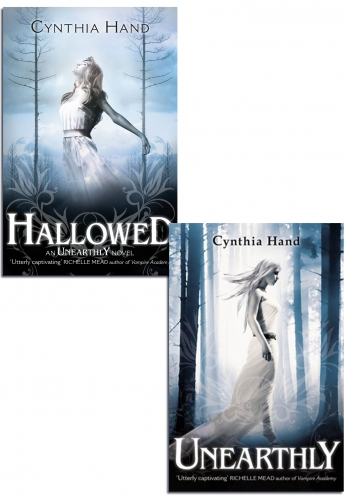 Unearthy Series Novel Collection Cynthia Hand 2 Books Set Unearthly, Hallowed by Cynthia Hand
