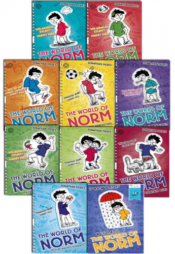 The World of Norm Collection Jonathan Meres 10 Books Set by Jonathan Meres
