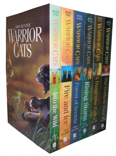 Warrior Cats Series 1 The Prophecies Begin - 6 Books Collection Set By Erin Hunter In to the Wild, Fire and Ice, Forest of Secrets, Rising Storm by Erin Hunter