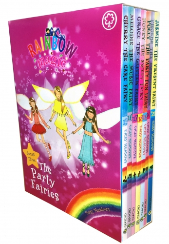 Rainbow Magic Series 3 The Party Fairies Collection 7 Books Box Set Book 15-21 by Daisy Meadows