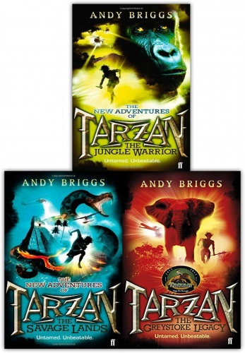Andy Briggs Tarzan a Legend Reborn 3 Books Collection Set by Andy Briggs