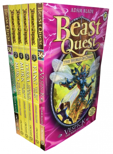 Fiction & Poetry Beast Quest Series 6 The World of Chaos 6 Books Collection Set Books 3136