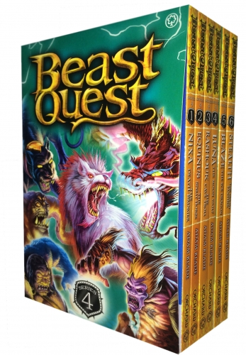 Beast Quest Series 4 - 6 Books Collection Set (Books 19-24) by Adam Blade
