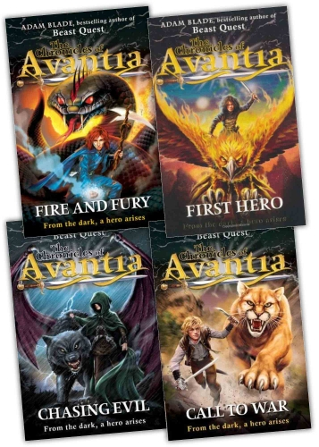 The Chronicles of Avantia 4 Books Collection Set by Adam Blade by Adam Blade