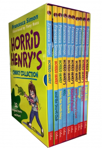 Horrid Henry Books Cheeky Collection 10 Books Box Set by Francesca Simon and Tony Ross