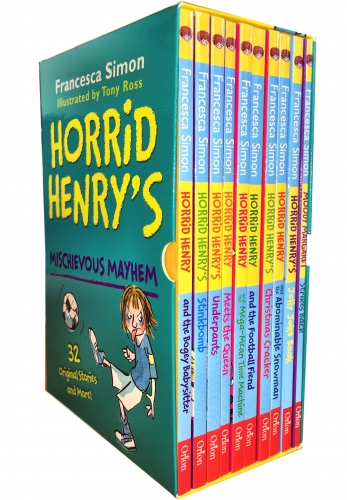 Horrid Henry Books Mischievous Mayhem Collection 10 Books Box Set by Francesca Simon, Tony Ross