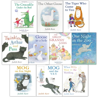 The Judith Kerr Collection 10 Books Set Tiger Who Came for Tea (Set 2) by Judith Kerr