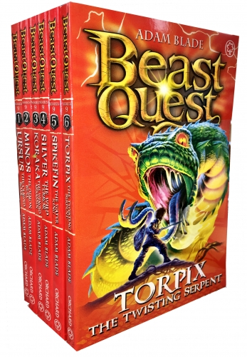Beast Quest Series 9 6 Books Collection Pack Set (Books 49-54) by Adam Blade