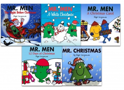 Mr Men Collection 5 Books Set Christmas Gift Pack Mr Christmas, Christmas Carol by Roger Hargreaves