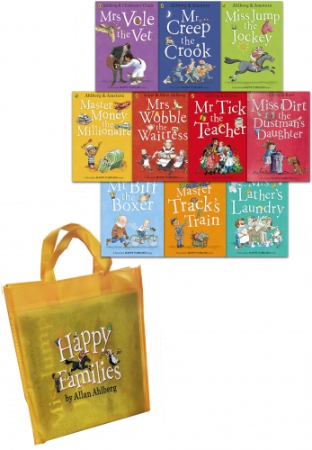 Happy Families Collection Allan Ahlberg 10 Books Set by Allan Ahlberg