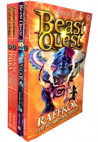 Beast Quest Series 14 The Cursed Dragon Collection 4 Books Collection Pack Set by Adam Blade