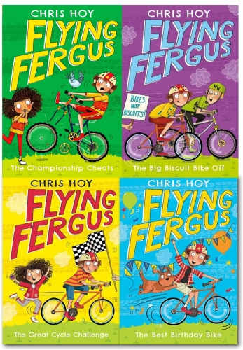 Flying Fergus Series Collection Chris Hoy 4 Books Set (great cycle challenge, Best Birthday Bike, Big Biscuit Bike Off, Championship Cheats) by Sir Chris Hoy