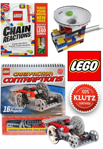 Klutz Lego Crazy Action Contraptions Children Activity 2 Books Collection Set by Doug Stillinger, Pat Murphy