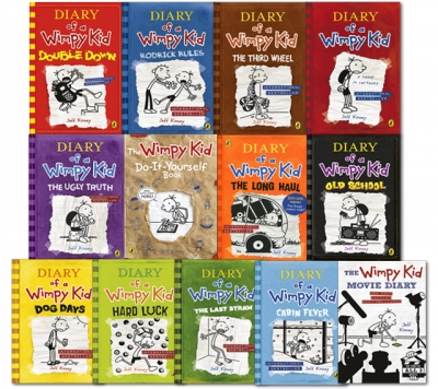 Diary of a Wimpy Kid Collection 13 Books Set by Jeff Kinney