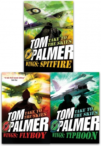 Tom Palmer Wing 3 Books Collection Set Children Dyslexia Friendly (Flyboy, Typhoon, Spitfire) by Tom Palmer