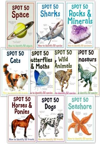 Large Spot 50 Series 10 Books Collection Set by Camilla de la Bedoyere