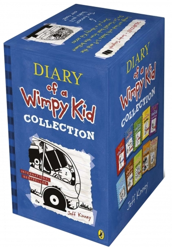 Diary of a Wimpy Kid Collection 10 Books Set by Jeff Kinney