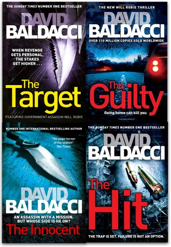 Fiction & Poetry David Baldacci Will Robie Series 4 Books Collection Set