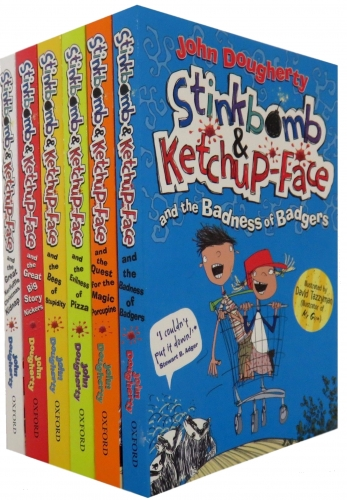 Stinkbomb and Ketchup-Face Collection John Dougherty 6 Books Set by John Dougherty