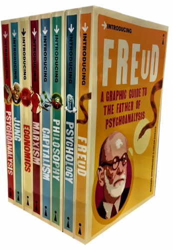 A Graphic Guide Introducing  Big Ideas Collection 8 Books Set (Freud, Psychology, Philosophy, Capitalism, Marxism, Economics, Jung, Psychoanalysis) by Various