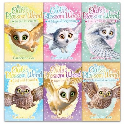 Owls of Blossom Wood Collection 6 Books Set by Catherine Coe