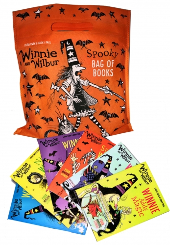 Winnie and Wilbur Collection Spooky Bag of Books 6 Books Set Pack by Laura Owen & Korky Paul