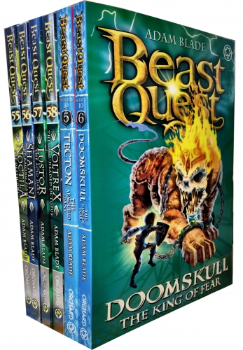 Beast Quest Series 10 6 Books Collection Pack Set (Books 55-60) by Adam Blade