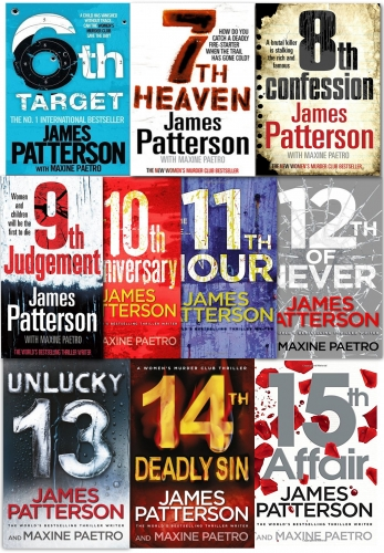 James Patterson Womens Murder Club Series 10 Books Collection Set 6-15 NEW PB by James Patterson