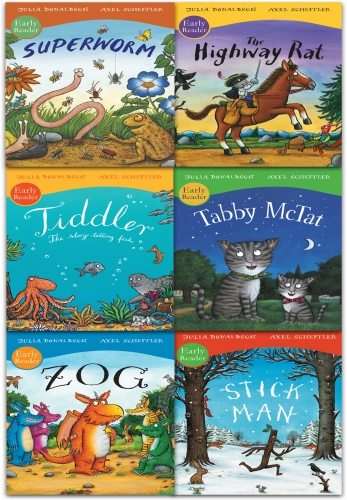 Early Readers Collection 6 Books Set Pack by Julia Donaldson and Axel Scheffler by Julia Donaldson and Axel Scheffler