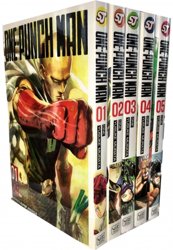 One-Punch Man Volume 1-5 Collection 5 Books Set (Series 1) by ONE (Author), Yusuke Murata (Illustrator)