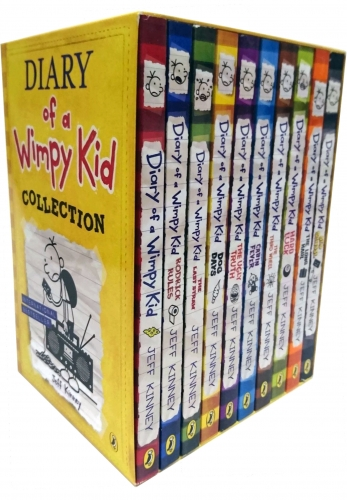 Diary of a Wimpy Kid Collection 10 Books Box Set Yellow Box by Jeff Kinney