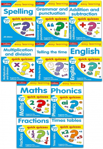 Collins Easy Learning Quick Quizzes Ages 5-7 Collection 10 Books Set National Curriculum by Collins Easy Learning