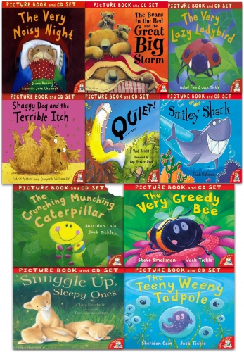 The Crunching Munching Caterpillar and Other Stories Collection 10 Books & CDs Set by Jack Tickle