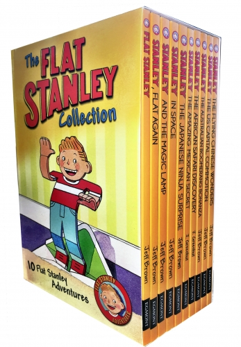 The Flat Stanley Adventure 10 Books Collection Box Set Pack By Jeff Brown by Jeff Brown