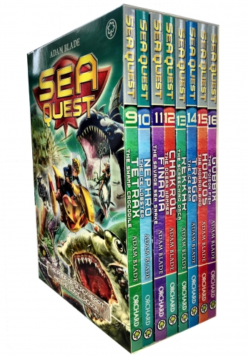 Sea Quest Series 3 and 4 Collection Adam Blade 8 Books Box Set (9-16) by Adam Blade