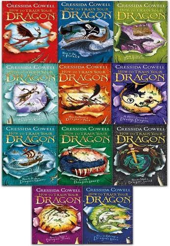 How to train your Dragon 11 Books Collection Set By Cressida Cowell by Cressida Cowell