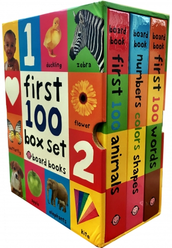 First 100 Collection 3 Books Box Set by Roger Priddy First 100 Soft to Touch Board BooksFirst 100 Words, Numbers Colours Shapes, Animals by Roger Priddy