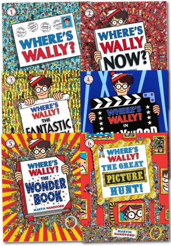 Where's Wally? Wow Collection 6 Large Books Set by Martin Handford