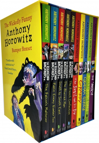 Anthony Horowitz Wickedly Funny Children Collection 10 Books Box Set Inc Diamond Brothers by Anthony Horowitz