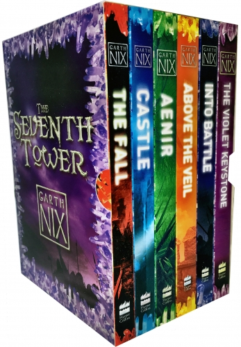 Garth Nix The Seventh Tower Collection 6 Books Box Set - Aenir, Castle, The Fall, Into Battle, Above the Veil, The Violet Keystone by Garth Nix