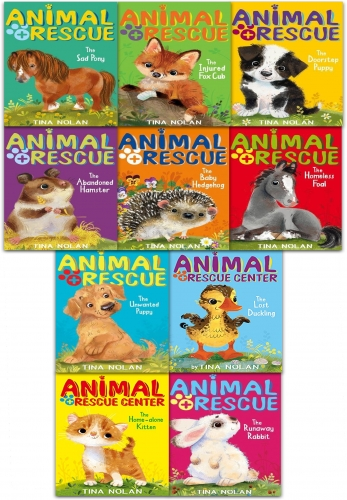 Animal Rescue 10 Books Collection Set  by Tina Nolan - 9781847159458, 978-1847159458