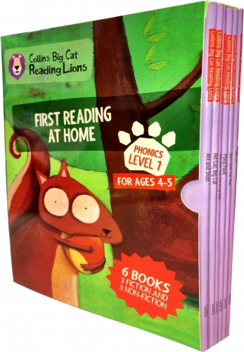 Big Cat Reading Lions Phonics Level 1: First Reading at Home 6 Books Collection Box Set by Collins UK