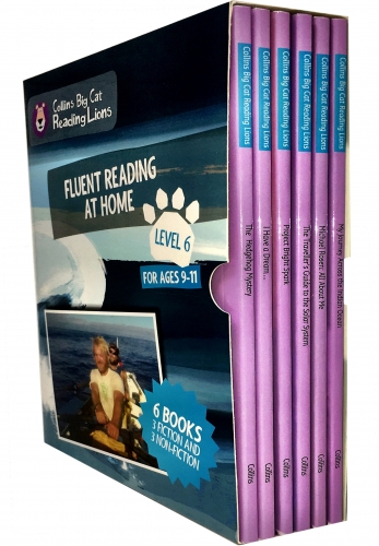 Big Cat Reading Lions Level 6 Fluent Reading at Home 6 Books Collection Box Set by Collins UK