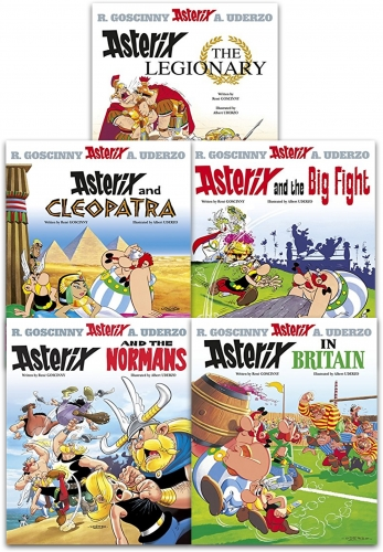 Asterix Series 2 Collection 5 Books Set (Book 6-10) (Cleopatra, the Big Fight, Asterix in Britain, the Normans, Asterix The Legionary) by Rene Goscinny, Albert Uderzo