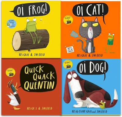 Kes Gray Collection 4 Books Set Oi Frog Oi Dog Quick Quack Quentin Oi Cat by Kes Gray (Author), Jim Field (Illustrator)