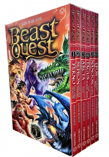 Beast Quest Box Set Series 1 (Book 1 to 6) by Adam Blade