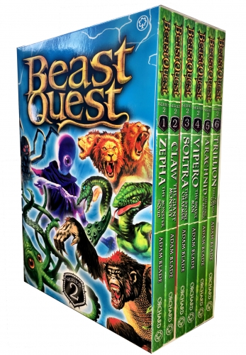 Beast Quest Box Set Series 2 The Golden Armour 6 Books Collection Set (Books 7-12) by Adam Blade