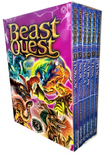 Beast Quest Box Set Series 3 The Dark Realm 6 Books Collection Set (Books 13-18) by Adam Blade