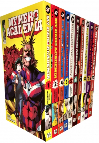 Japanese School Book Cover : My hero academia volume collection books set