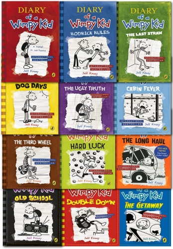 Diary of a Wimpy Kid Collection 12 Books Set by Jeff Kinney (Book 1-12) by Jeff Kinney